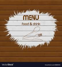 Restaurant Menu Paint On Wooden Background
