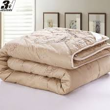 double bed Queen King size bedding Camelwool Quilt camel hair ... & double bed Queen King size bedding Camelwool Quilt camel hair Filler  Comforter/Duvet/Doona/Blanket Fast ship 200*230cm 220*240cm - in from on  w-wholesale. ... Adamdwight.com
