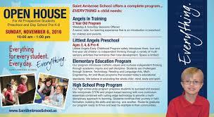 Fall School Open House November 6 10am 1pm Saint Ambrose