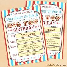 Carnival Party Invitations Invitation Themed Birthday Templates Free