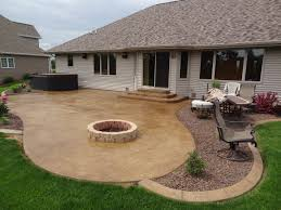 Concrete patio with square fire pit Build Stamped Concrete Patio With Square Fire Pit More Than10 Ideas Home Cosiness Castlecreationsbiz Stamped Concrete Patio With Square Fire Pit More Than10 Ideas