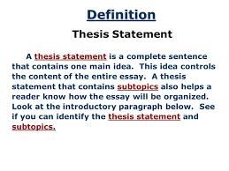 the thesis statement a road map for your essay essay introduction 3 introduction thesis statements after you have brainstormed and you have some main ideas of what you would like to write in your essay you can begin