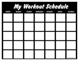 fitness timetable template print a workout calendar
