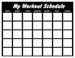 fitness timetable template print a workout calendar