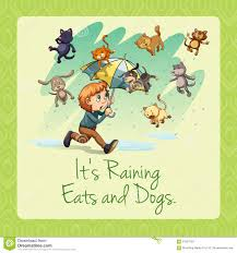 raining cats and dogs clipart. Plain Dogs It S Raining Cats And Dogs Idiom On Raining Cats And Dogs Clipart N