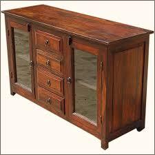 rustic glass door buffet 4 door solid wood sideboard