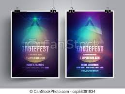 Flyers Theme Set Of Mockup Poster Templates Or Flyers For An Indie Rock Concert Invitation To The Music Festival Night Party In A Minimalis Style Lectures And