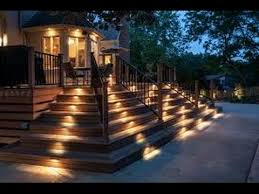deck stair led lighting installation