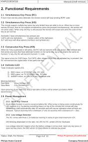 Resume More Than One Page by Kwr101803 Philips Dual Motion Remote Control  User