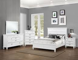 ... Furniture Crown Mark B9100 Q Set Hannah 4 Pieces White Queen Bedroom  Set ...