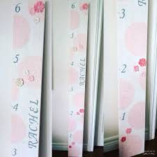 White Growth Chart Pink Grey White Growth Chart Ruler Baby Crafts Baby