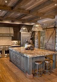 sierra escape rustic wood stone kitchen