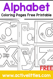 When your kid is coloring his alphabet coloring pages you can talk with him about taste if the object is fruit, about size if the object is elephant. Alphabet Coloring Books Free Printable Lowercase Version Active Littles