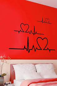 extremely creative heart wall decor pulse line decal love art alternative views diy with pictures decoration ideas uk silver