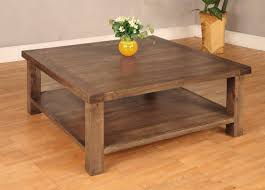 ... Coffee Table, Elegant Brown Wood Square Rustic Coffee Table With  Storage Design: Extraordinary Square ... Images