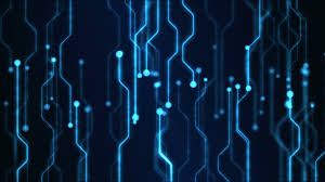 Abstract Technology Circuit Background Animation Loop