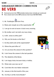 Verb To Be Chart Esl Be Verb All Things Grammar