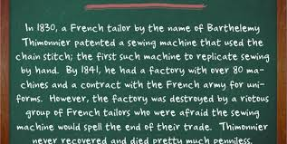 Sewing Machine Facts And History