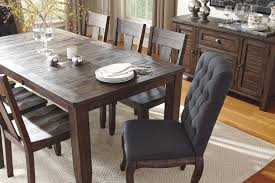 ideas collection 9 piece rectangular dining table set with upholstered chairs for your solid wood kitchen table