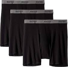 Hanes Mens Core Cotton Platinum Boxer Briefs Pack