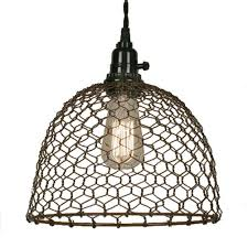 Chicken Wire Dome Pendant Light in Primitive Rust Finish - Ceiling Pendant  Fixtures - Amazon.com