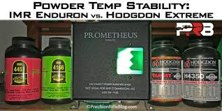 Powder Sensitivity Chart Powder Temp Stability Hodgdon Extreme Vs Imr Enduron