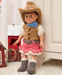 Redheart Free Crochet Patterns New Dollie Cowgirl Partner Red Heart