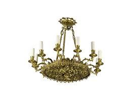 restoration style chandelier in gilt