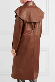 calvin klein 205w39nyc womens coats leather trench coat brown