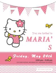 hello kitty photo invitations 33 free diy printable party invitations for kids