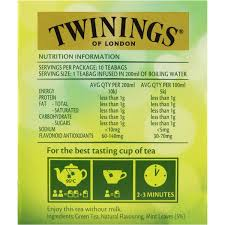 twinings chai tea nutritional information besto