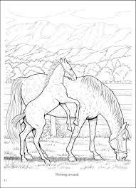 Small Picture Realistic Horse Coloring Pages Coloring Pages Online