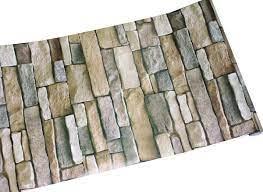 Faux Vintage 3D Brick Stone Wall Paper ...