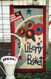 62 best Country Threads a quilt shop in a chicken coop images on ... & Country Threads :: Door Banner Patterns :: Liberty Basket Door Banner  Pattern Adamdwight.com