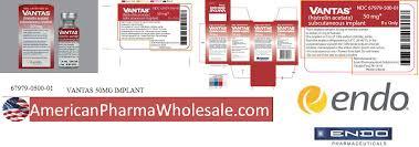 Vantas Implant Rx Item Vantas 50mg Kit By Endo Pharma Valera