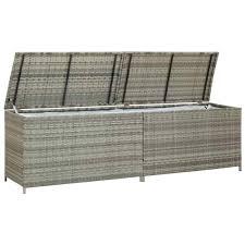"【USA Warehouse】 <b>Garden Storage Box Poly</b> Rattan 78.7""x19.6 ..."