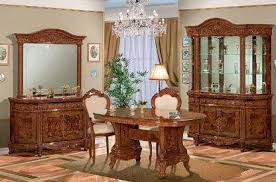 marvelous italian lacquer dining room furniture. Italian Dining Room Furniture Versailles Walnut Classic Elegant With Crystal Hanging Lamp Brown Carved Deluxe Glass Marvelous Lacquer P