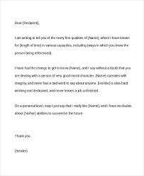 Sample Character Reference Letter 8 Letters Of Recommendation