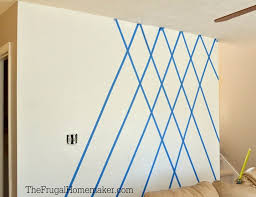 Paint Diamond Accent Wall Using Scotchblue Painter Tape