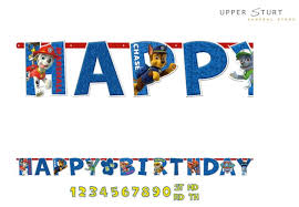 Paw Patrol Jumbo Letter Banner Birthday Party Supplies