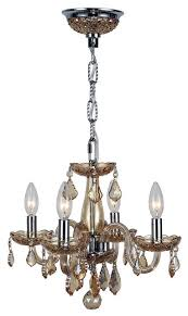 clarion 4 light chrome finish chandelier 16 x 12 mini small amber