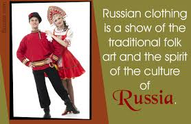 the unique russian clothing brings out its cultural diversity
