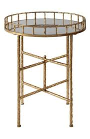 tilly round gold bamboo mirrored accent
