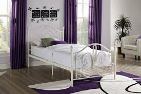 Metal Bedroom Furniture Amazoncom Dhp Bombay Metal Bed Twin White Kitchen Dining