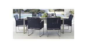 dune outdoor furniture. dune rectangular dining table with painted charcoal glass outdoor furniture