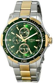 cheap green watch dial green watch dial deals on line at get quotations · armitron men s 20 4677gntt multi function green dial two tone bracelet watch