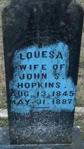 "Louesa Hammond ""Edie"" Means Hopkins (1845-1887) - Find A Grave Memorial"