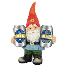 gnome pics exhart gnome holding two cans statue reviews wayfair