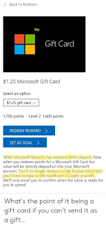 Microsoft Giftcard Back To Redeem Gift Card 125 Microsoft Gift Card Select An