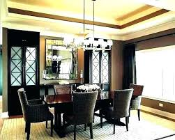 chandelier for large dining room table height above how high should hang ning from shwasher exc